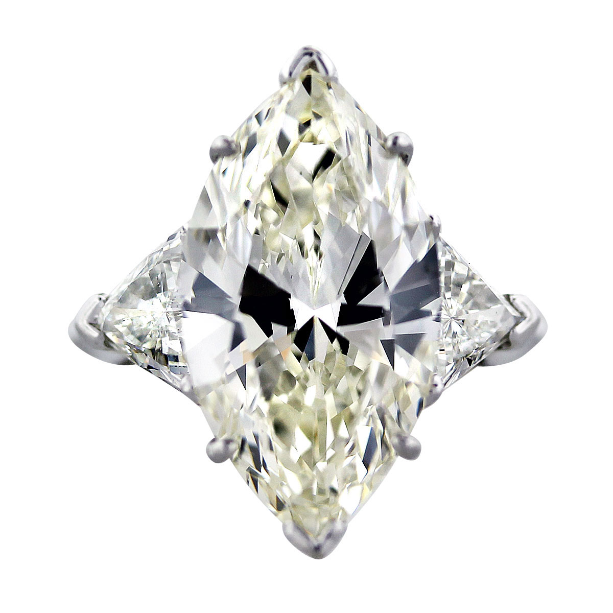 10 Carat Marquise Cut GIA Diamond Engagement Ring With