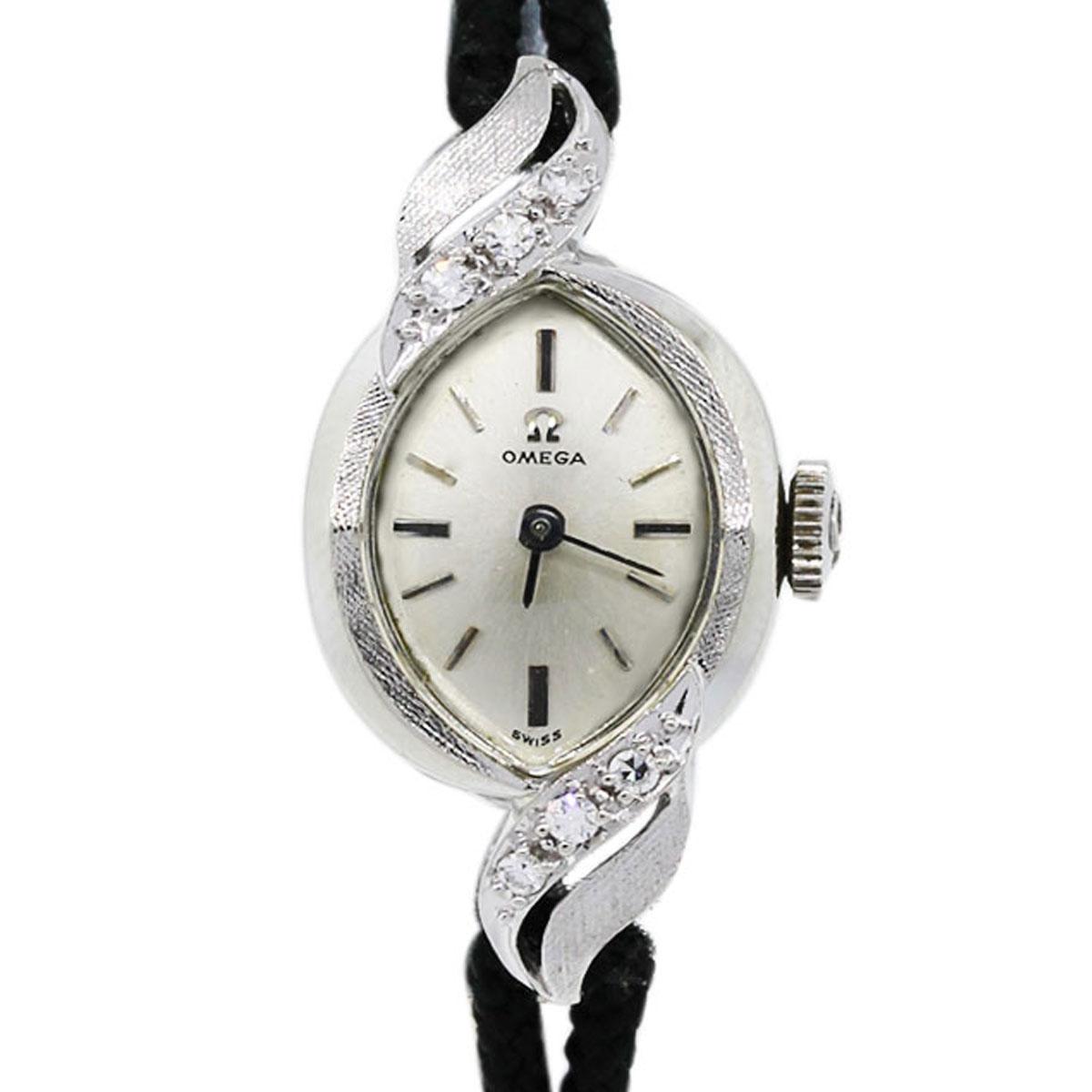 Antique 14k White Gold Diamond Ladies Omega Watch Boca Raton