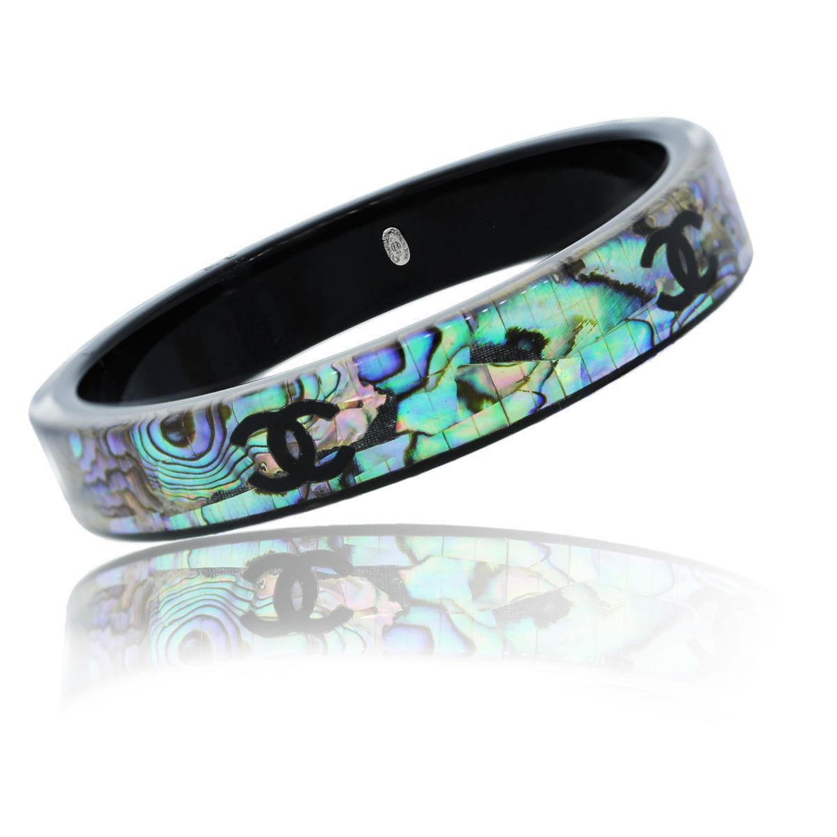 Chanel Mother Of Pearl Mosaic Bangle Bracelet Boca Raton