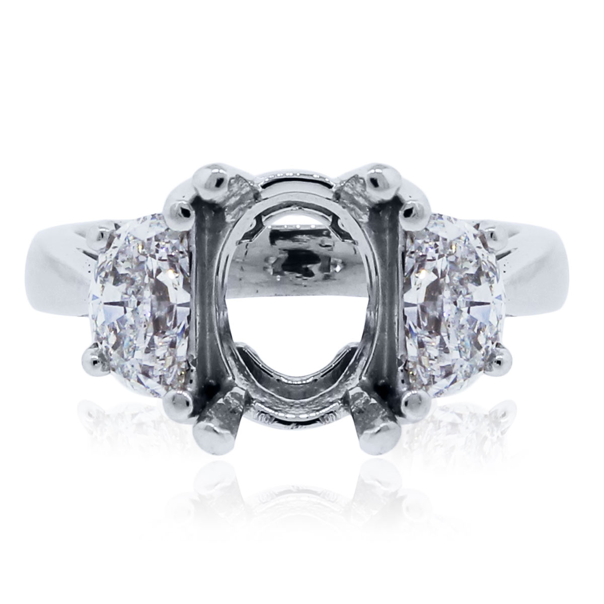 Half Moon Shape Diamond Mounting 1