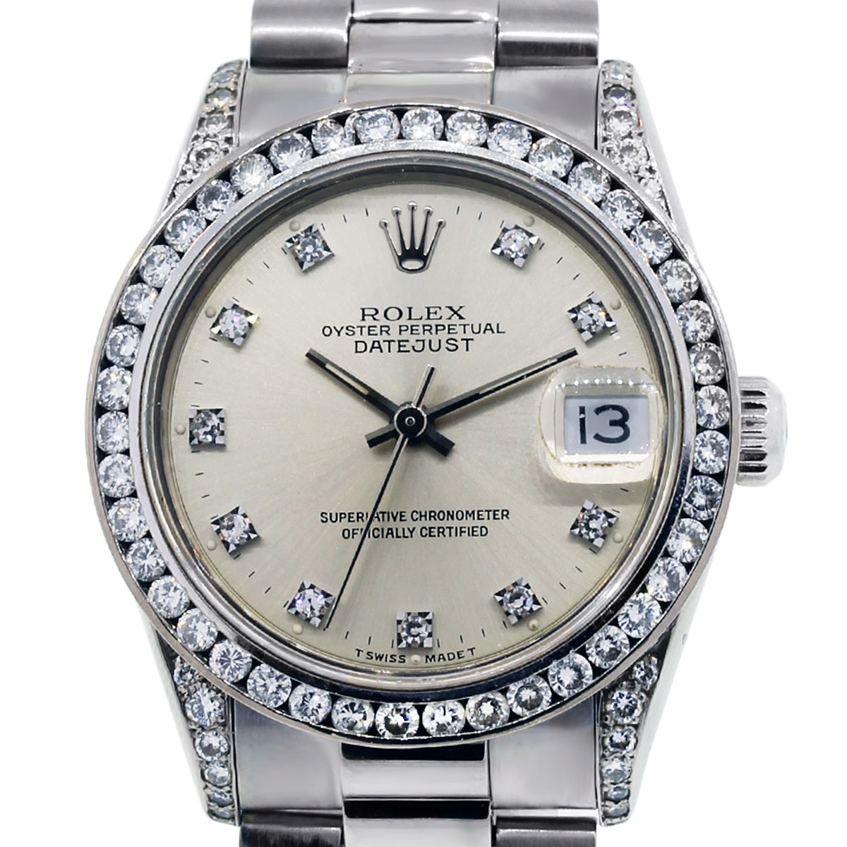 Rolex 68279 Datejust Midsize 18k White Gold Presidential