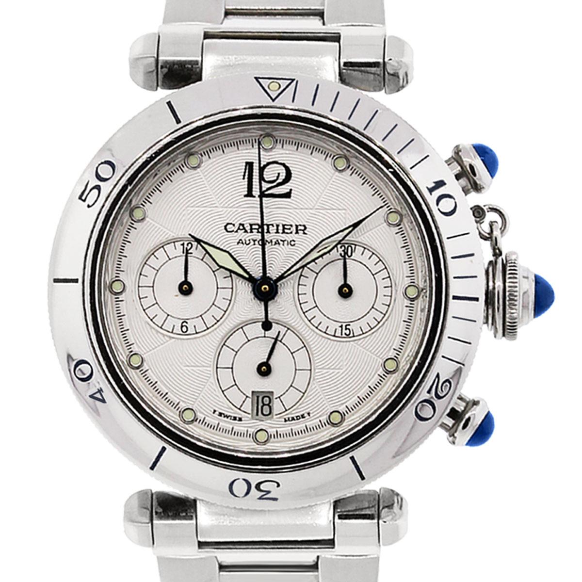 Cartier Pasha 2113 Chronograph Dial Skeleton Back Watch