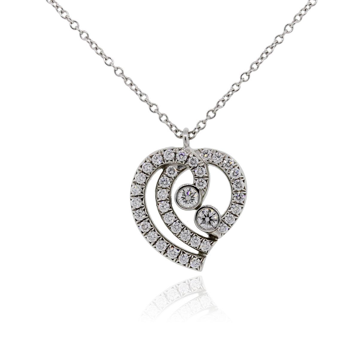 Tiffany Amp Co Rings Platinum Diamond Heart Pendant