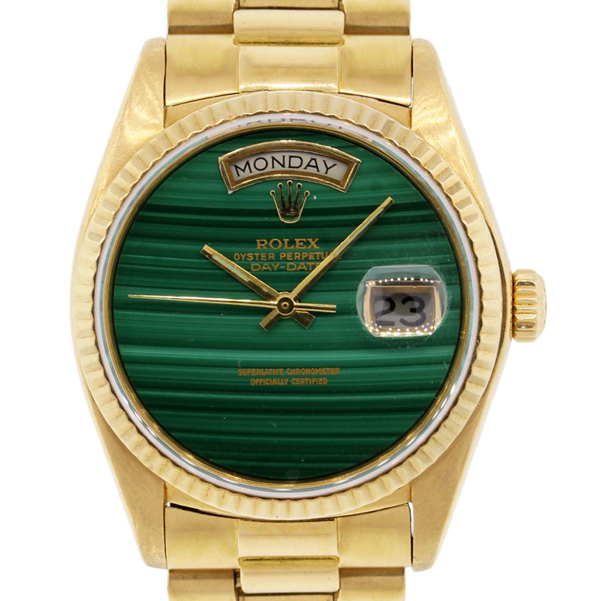 Rolex 18038 Day Date Malachite Dial Presidential Watch