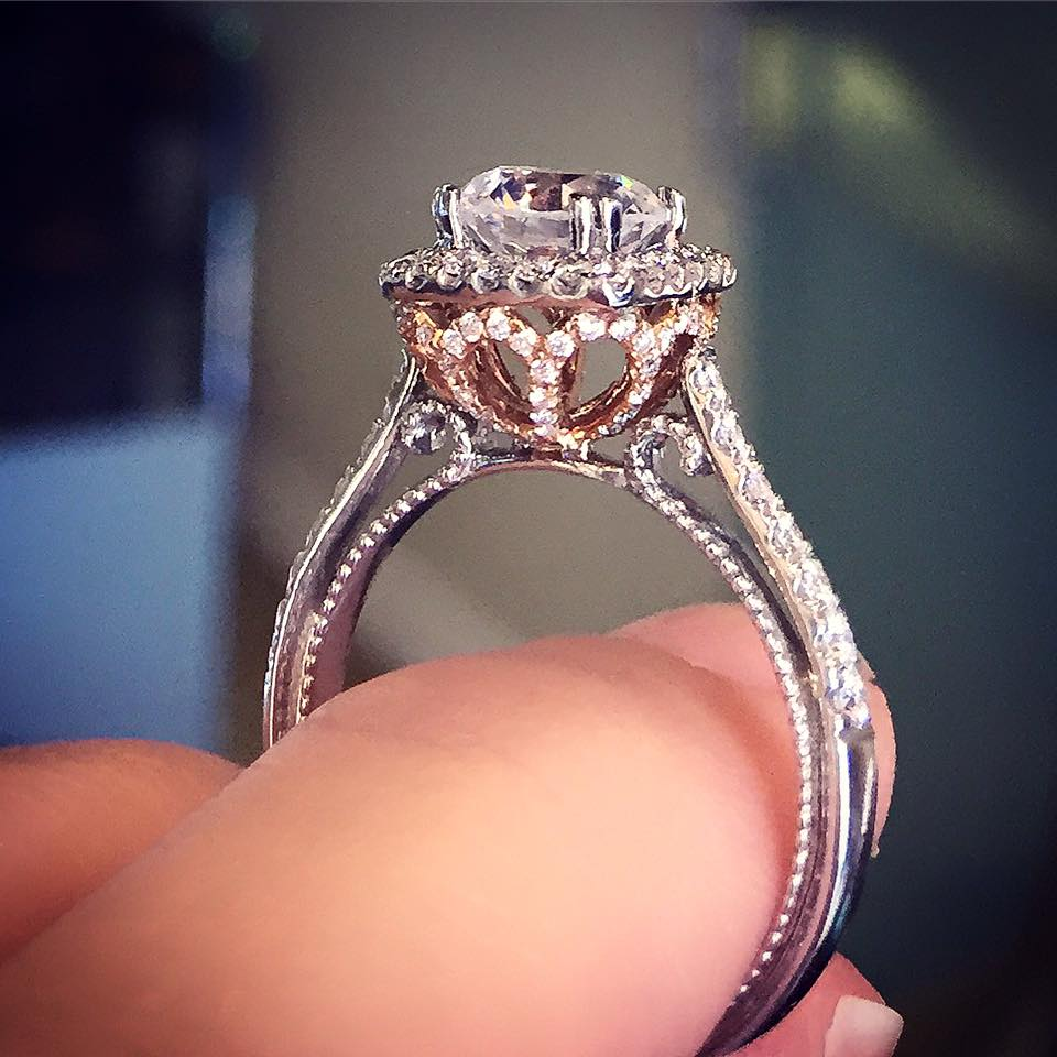 Verragio Engagement Rings Rose Gold BFF Raymond Lee