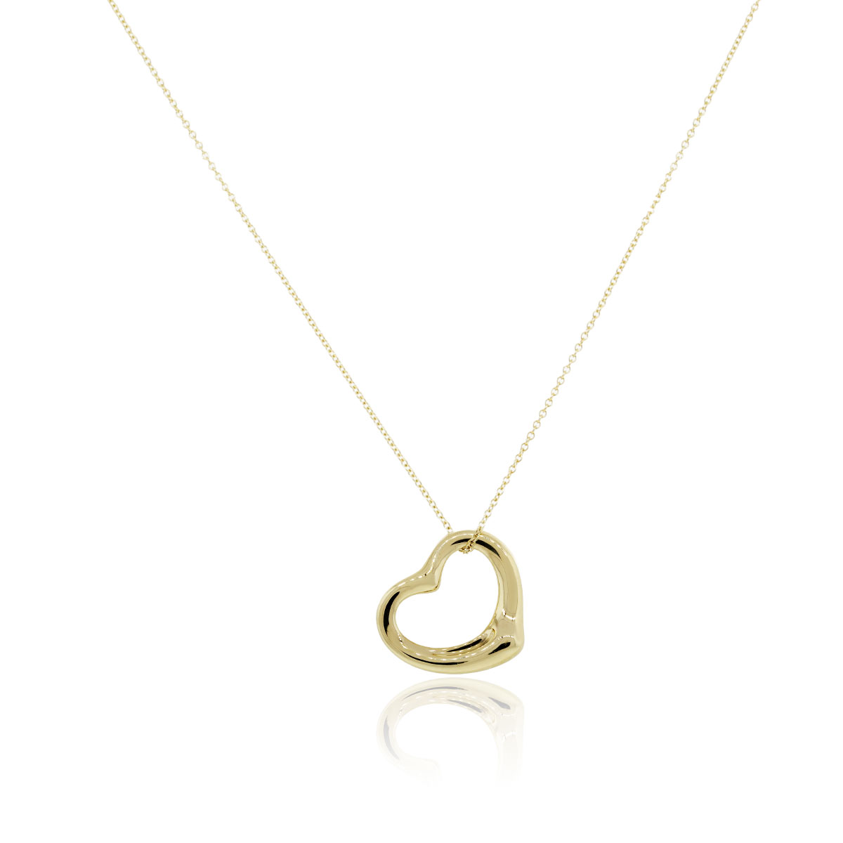 Tiffany Amp Co 18k Yellow Gold Elsa Peretti Open Heart