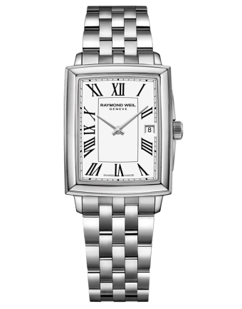 RAYMOND WEIL Toccata Square Stainless Steel White Dial Roman Numerals Quartz Watch