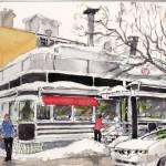 Retro Restaurant Rue St Denis Art Plein Air 2