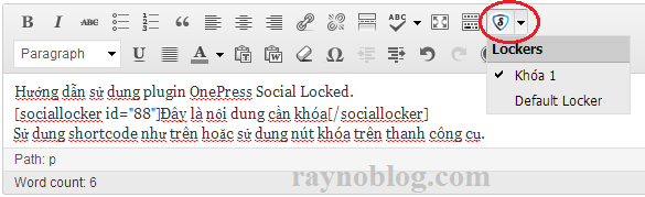 use onepress social locker