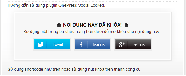 use preview onepress social locker