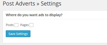 plugin insert post ads setting