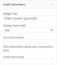 wiget email subscribers