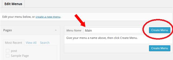 tao menu wordpress