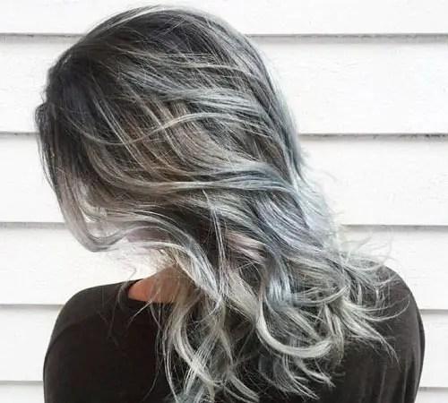 rayitos para el cabello plateado