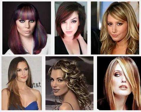 colores de mechas para el cabello
