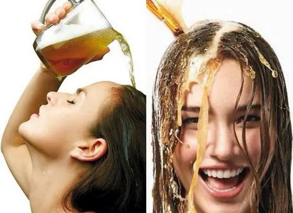 mascarilla con cerveza para el pelo