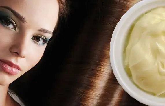 mascarilla con mayonesa para el pelo