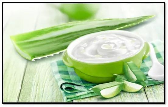 Sábila y yogurt para el cabello