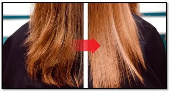 pelo seco y sin brillo
