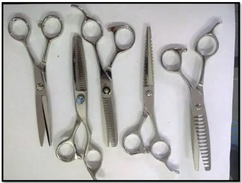 tipos de tijeras de peluquerías