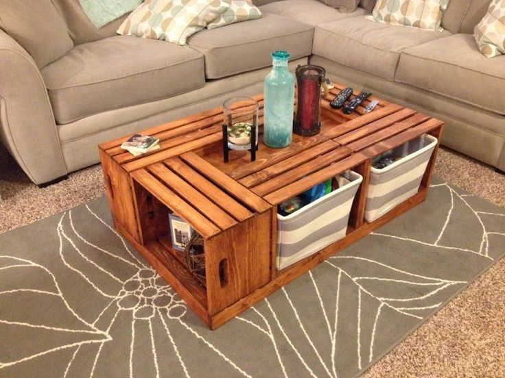 Cool Coffee Tables with Storage from Pallet Wood Ideas for Cheap Modern Living Room Furniture