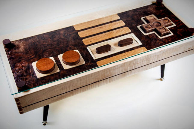 Cool Wooden Nintendo Coffee Tables Ideas with Metal Legs for Cheap Modern Furniture