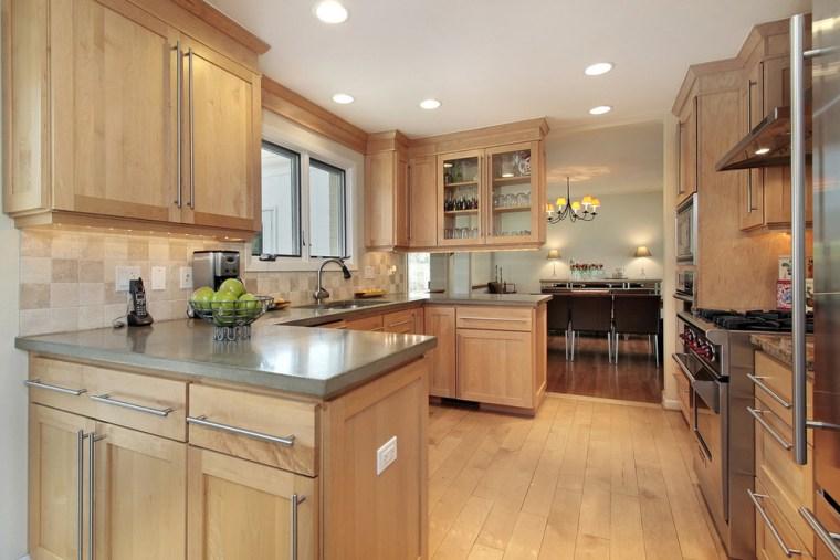 modern-wooden-Cheap-Kitchen-Cabinets-Refacing-Ideas