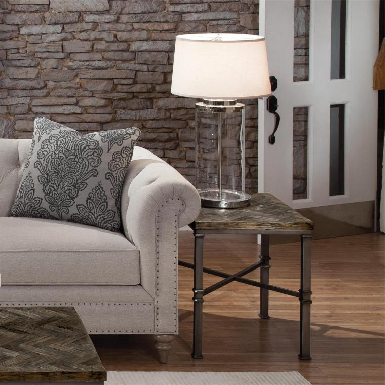 wood top side tables for metal legs small side table living room
