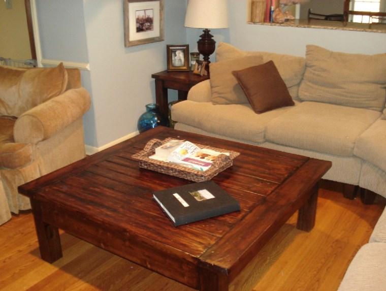 diy big square coffee table wood