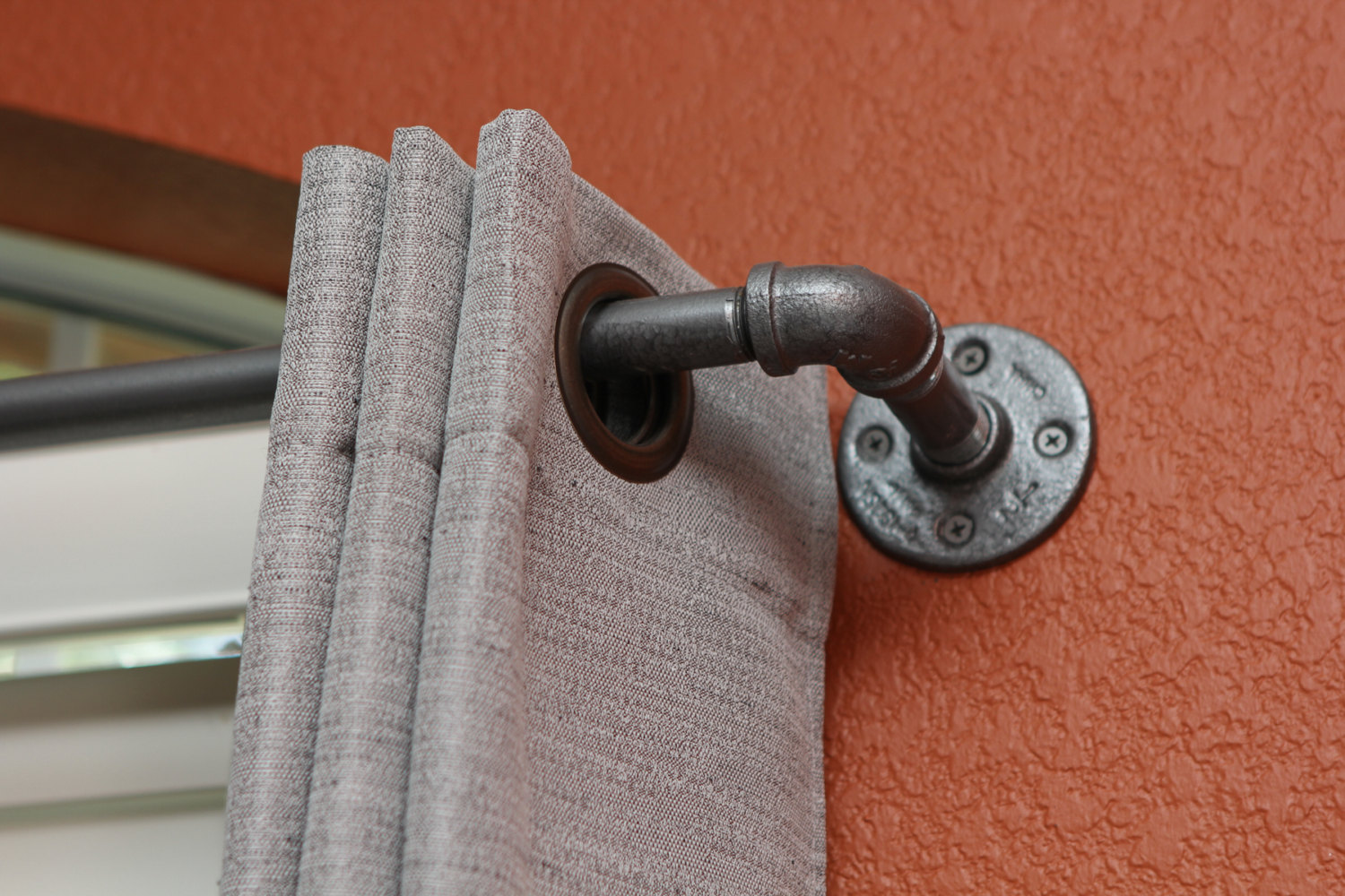 short decorative curtain rods for