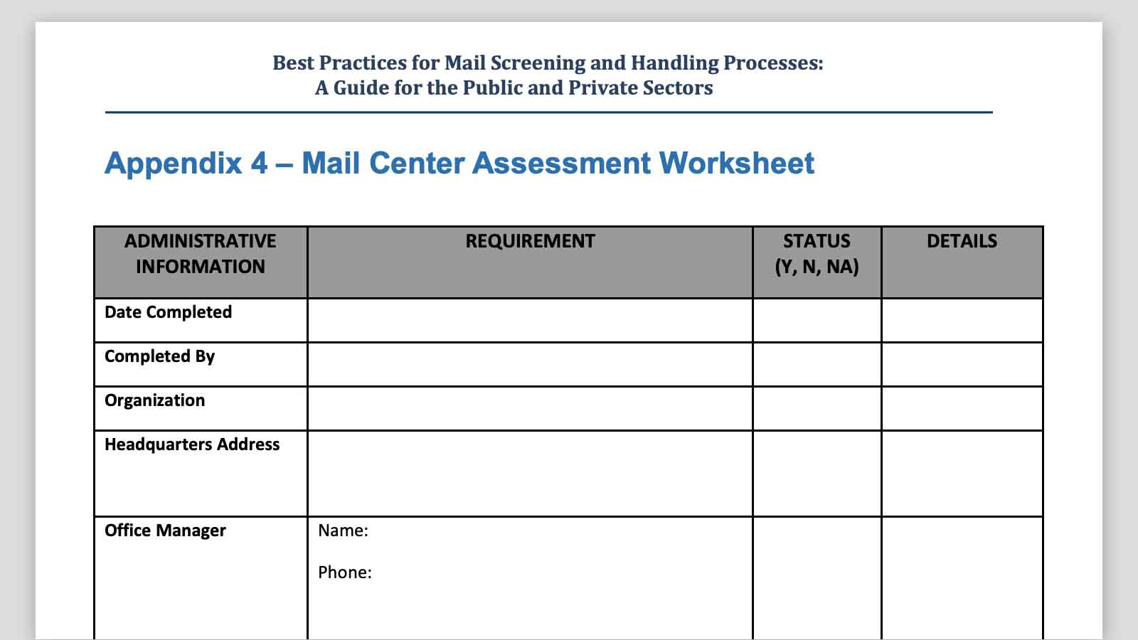 Mail Security Risk Assessment Amp Sop Planning Video