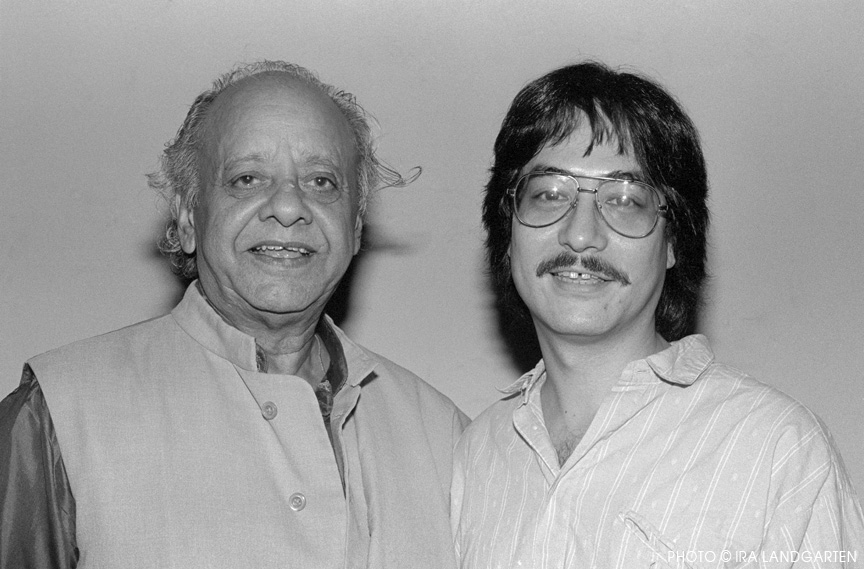 Ustad Alla Rakha with Ray Spiegel, New York, September 1988