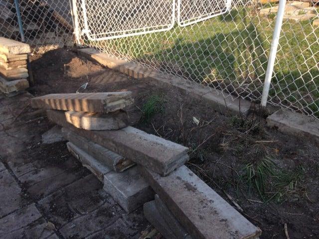Garden renovations.