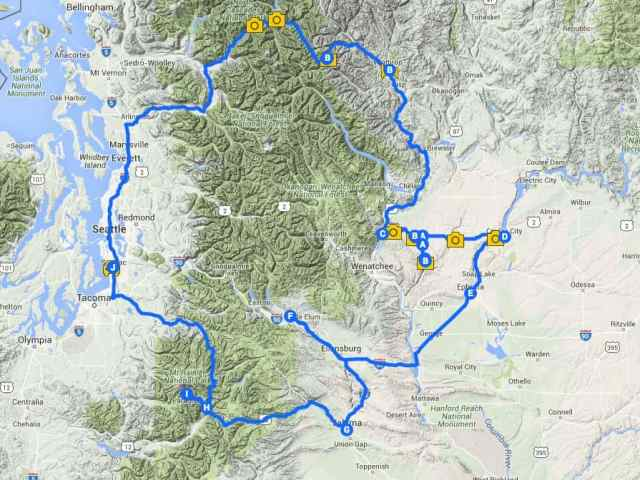Washington State Road Trip Map