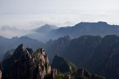 Huangshan mountain sunrise