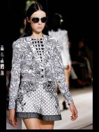 Balenciaga elegance tailored tweed emroiderry sequence print hip funky pop Spring Summer 2014 fashionweek paris london milan newyork nyc-12