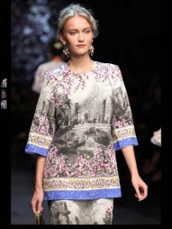 Dolce & Gabbana collection theme roman romanian empire Fashion Week Spring Summer 2014 paris milan london nyc newyork -102