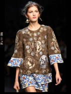 Dolce & Gabbana collection theme roman romanian empire Fashion Week Spring Summer 2014 paris milan london nyc newyork -92