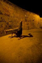 dancer during our photography project at this ghetto area in amman webdeh jordan jadal culture with dimmed street light