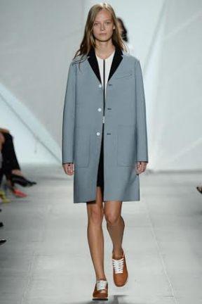 grey coat classic chic spring summer 2015