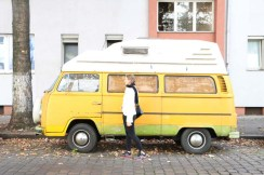 Yellow mini bus