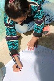 Refugee kids drawings what makes them happy at the jarash gaza refugee camp