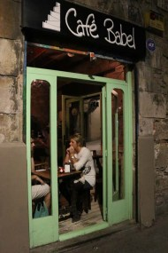 Restaurant shop at gothic quarter