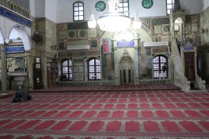 Inside the green Pasha mosque in Akka