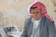A portrait of an old Palestinian in Nablus