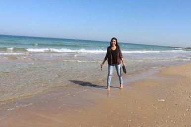 The beach of Haifa Carmel