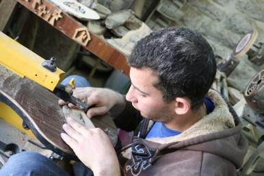 Olive wood making