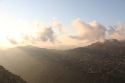 Overlooking the mountains in Lebanon