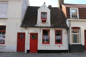 door, red, house
