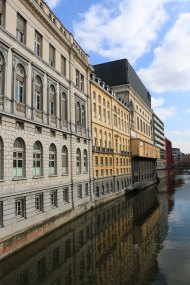 ghent, canal, architecture
